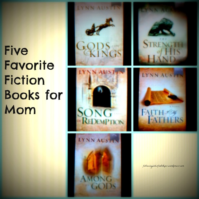 Five Favorite Fiction Books for Mom #summerreading www.followinginhisfootsteps.wordpress.com