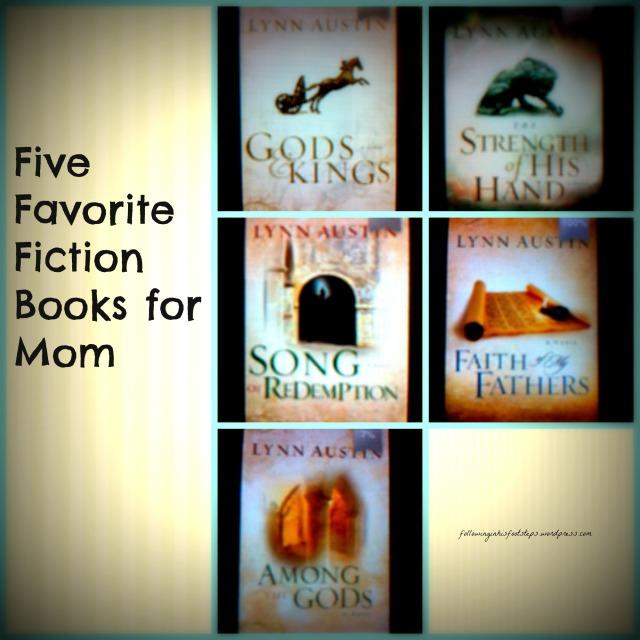 Five Favorite Fiction Books for Mom #summerreading www.followinginhisfootsteps.wordpress.com