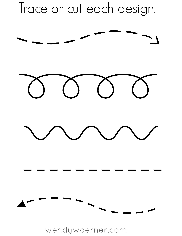 FREE Printable Cut & Trace Preschool Worksheet Following In His Footsteps