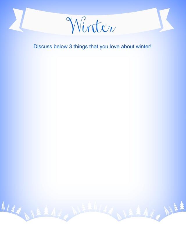 FREE Winter Writing Prompt www.followinginhisfootsteps.wordpress.com #writing #freebie